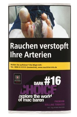 Mac Baren Mac Baren Dark Choice #16 Feinschnitt bei Tabakring | Ihr Shop für Tabakwaren und E-Zigaretten kaufen