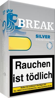 Break Break Silver Filtercigarillos bei Tabakring | Ihr Shop für Tabakwaren und E-Zigaretten kaufen