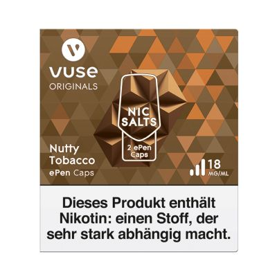 Vuse Vuse ePen Caps Nutty Tobacco Nic Salts 18mg Nikotin 2ml bei www.Tabakring.de kaufen