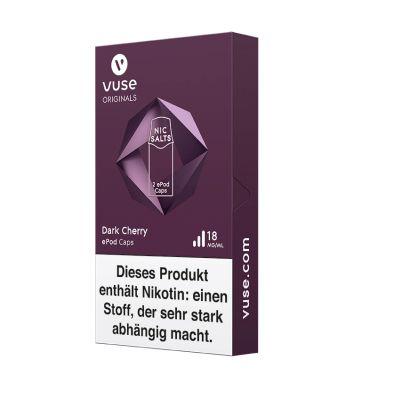 Vuse Vuse ePod Caps Dark Cherry Nic Salts 18mg Nikotin 1,9ml bei www.Tabakring.de kaufen