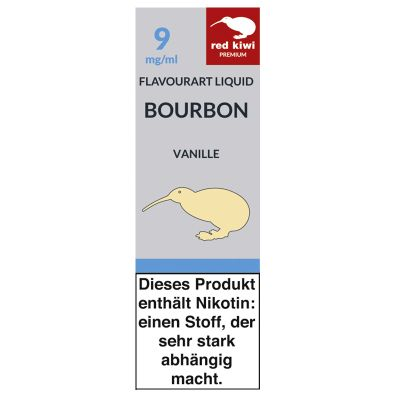 Red Kiwi Red Kiwi eLiquid Bourbon Vanille 9mg Nikotin/ml bei www.Tabakring.de kaufen