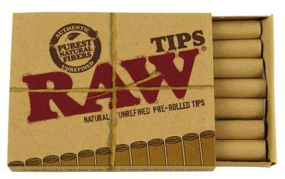 RAW RAW Filter Tips Slim ungebleicht vorgerollt bei www.Tabakring.de kaufen