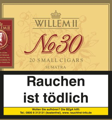 Scandinavian Willem II Nr. 30 Sumatra bei www.Tabakring.de kaufen