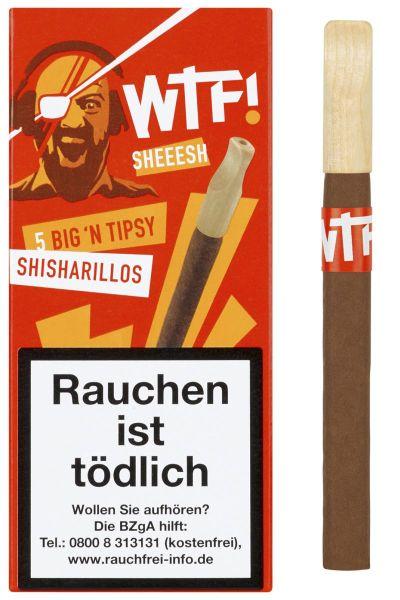 WTF! Zigarillos Shisharillo SHEESH Big 'n Tipsy (Packung á 5 Stück)