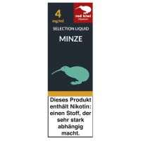 Red Kiwi eLiquid Selection Minze 4mg Nikotin/ml (10 ml)