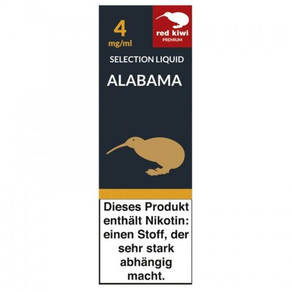 Red Kiwi eLiquid Selection Alabama 4mg Nikotin/ml (10 ml)
