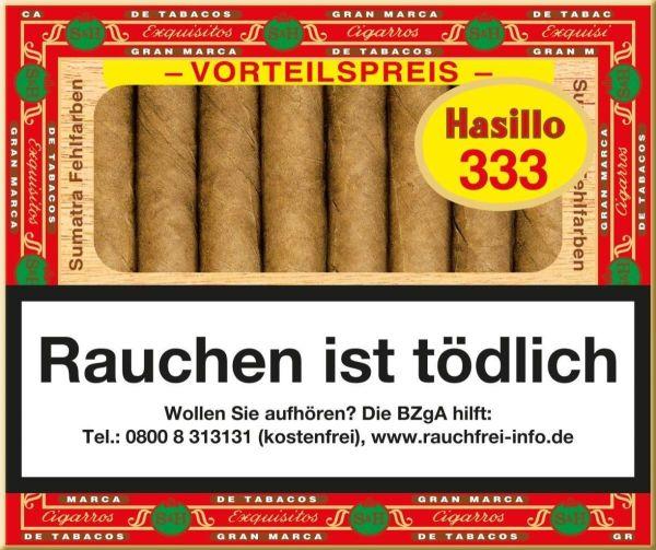 Hasillo Zigarillos #333 Sumatra Fehlfarben (Schachtel á 50 Stück)