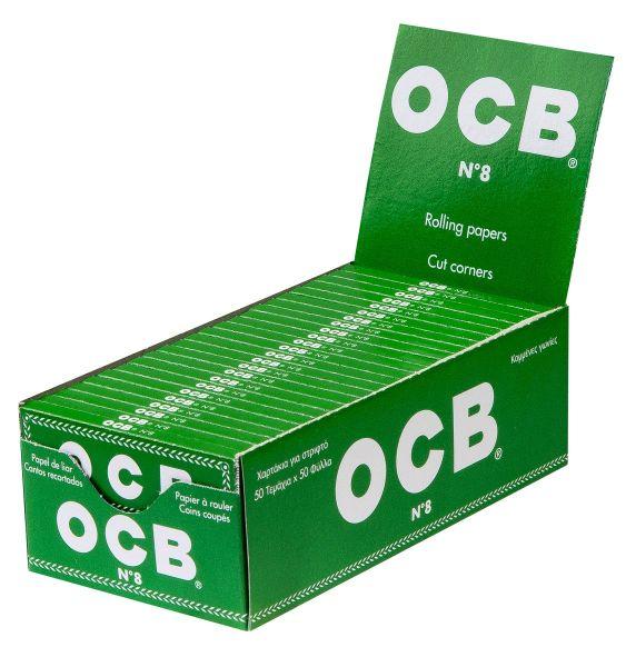 OCB Classic Grün Papier (50 x 50 Stück)