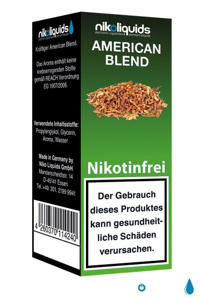 American Blend E-Zigaretten Liquid 0mg Nikotin/ml