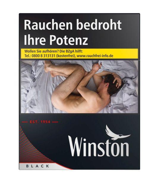 Winston Zigaretten Black XXXXL-Box (8x34er)