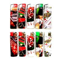 Feuerzeuge Atomic Elektronik F10 Motiv Gambling (50 x 1 Stk.)