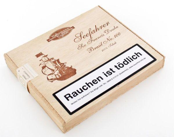 Wörmann Zigarren Seefahrer Sir Francis Drake Brasil No.100 (Packung á 10 Stück)