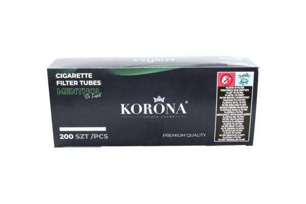 Korona De Luxe Menthol Filterhülsen Zigarettenhülsen (Schachtel á 200 Stück)