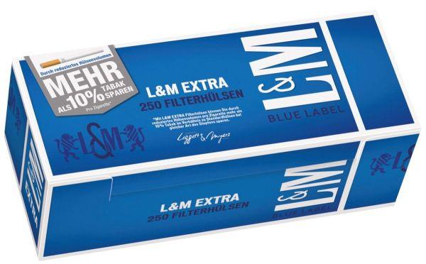 L&M Blue Label Extra Zigarettenhülsen (4 x 250 Stück)