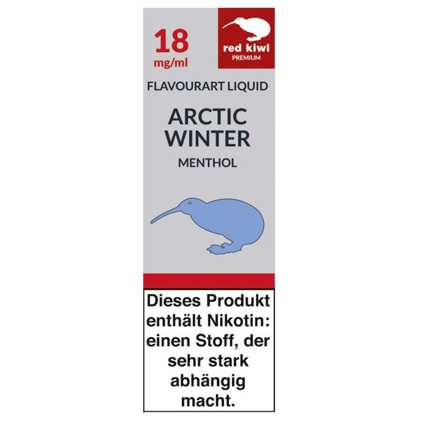 Red Kiwi eLiquid Artic Winter Menthol 18mg Nikotin/ml (10 ml)