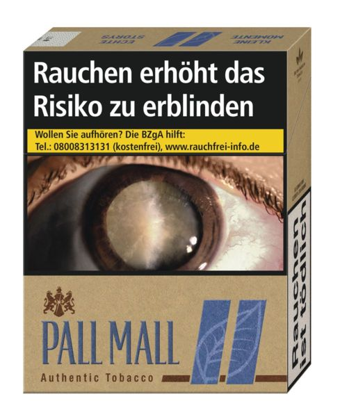 Pall Mall Zigaretten Authentic Blue 8€ XXL (8x26er)