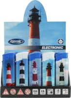 Feuerzeuge Atomic Elektronik F2 Motiv Leuchttürme (50 x 1 Stk.)
