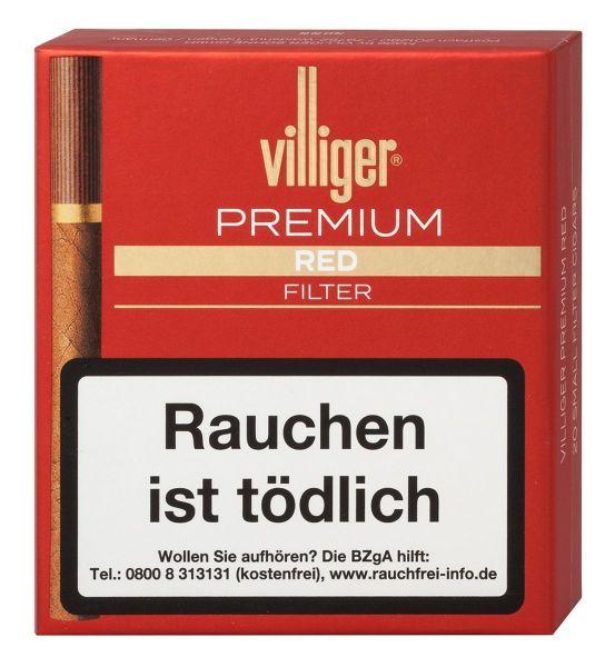 Villiger Zigarillos Premium Red Filter (Schachtel á 20 Stück)