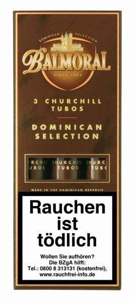 Agio Zigarren Balmoral BDS Churchill Tubos (Schachtel á 3 Stück)
