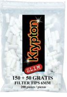 Krypton Slim Zigarettenfilter 6mm (20 x 200 Stück)