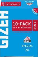 Gizeh Special Zigarettenpapier 10er-Pack (10 x 10 Stk.)