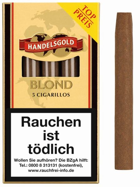 Handelsgold Zigarillos 211 Blond (Schachtel á 5 Stück)