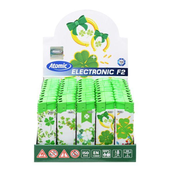 Feuerzeuge Atomic Elektronik Motiv Lucky Leaf (50 x 1 Stk.)