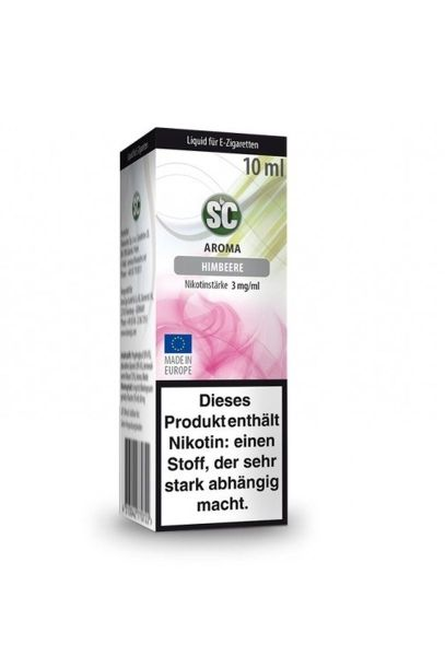 SC eLiquid Himbeere 3mg Nikotin/ml (10 ml)