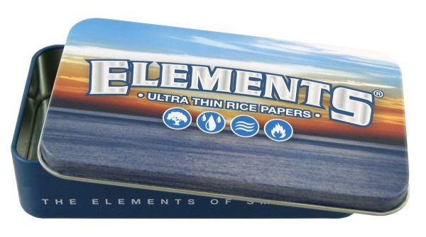 Elements Metalletui Box Blau Rice/Reis (Stück á 1 Stück)