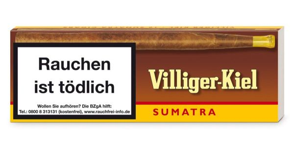 Villiger Zigarren Kiel Sumatra (Schachtel á 10 Stück)