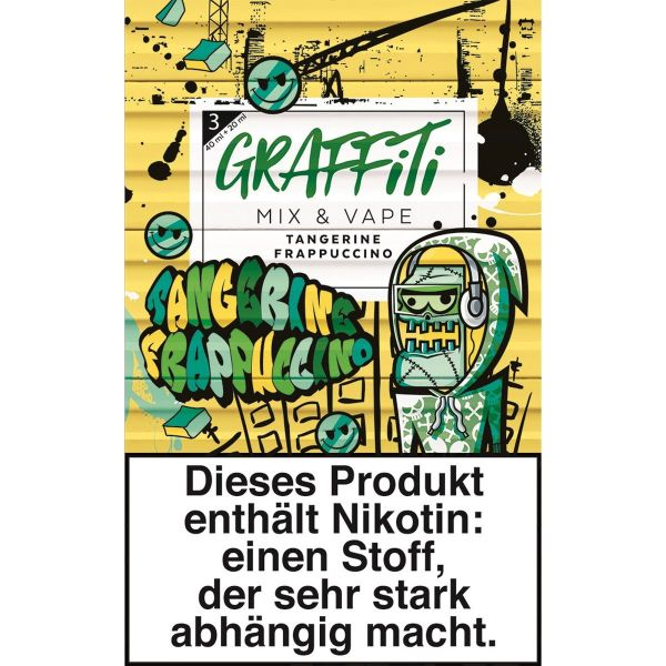 Red Kiwi eLiquid Graffiti Mix & Vape Tangerine Frappucchino 3mg Nikotin/ml (Packung á 60 ml)