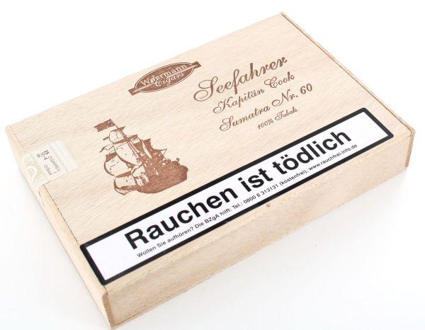 Wörmann Zigarren Kapitän Cook No. 60 Sumatra (Packung á 25 Stück)
