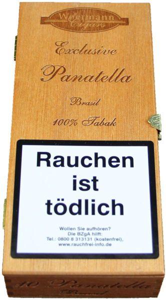 Wörmann Zigarren Exclusive Panatella Brasil 100% Tabak (Schachtel á 10 Stück)