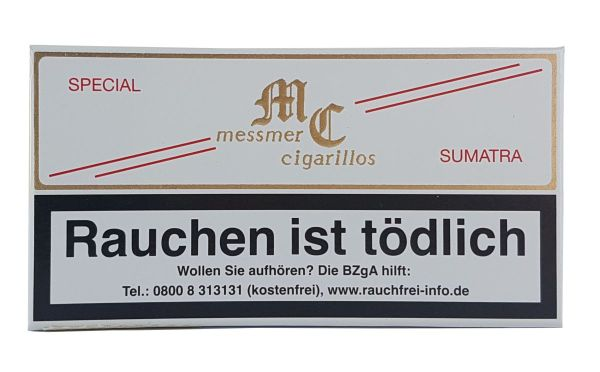 Messmer Zigarillos Kruse Cigarillos Special Sumatra Pappschachtel (Packung á 10 Stück)