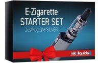 NikoLiquids E-Zigarette Easy Starter Kit Just Fog Q16 Silber (Stück á 1 Stück)