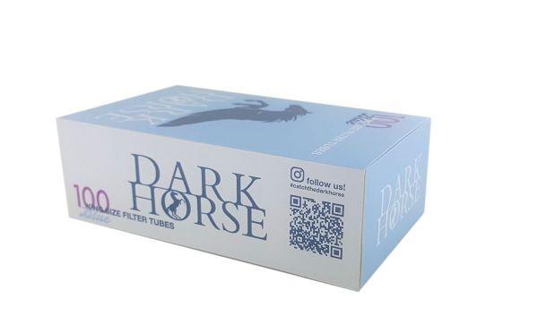 Dark Horse Blue Super Flow mit Acetatfilter Zigarettenhülsen (Packung á 100 Stück)