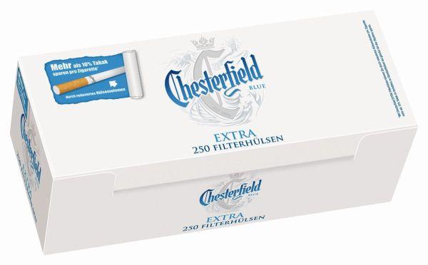 Chesterfield Blue Extra Zigarettenhülsen (4 x 250 Stück)