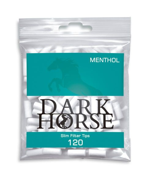 Dark Horse Slim Filter Tips Menthol 6mm (120 Stück)