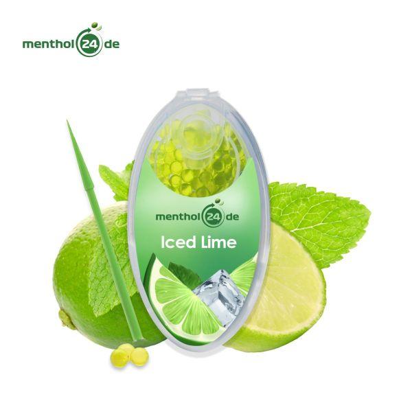 Menthol24 Aromakapseln Iced Lime (Dose á 100 Stück)