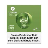 Vuse ePen Caps Green Apple Nic Salts 12mg Nikotin 2ml (2 Stück)