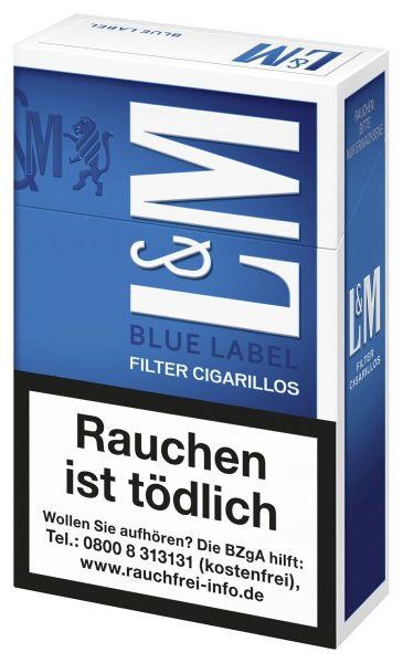 L&M Zigarillos Filter Cigarillos Blue Label (10x17 Stück) 2,50 € | 25,00 €