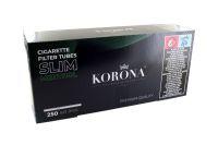 Korona De Luxe Slim Menthol Filterhülsen Zigarettenhülsen (Schachtel á 250 Stück)