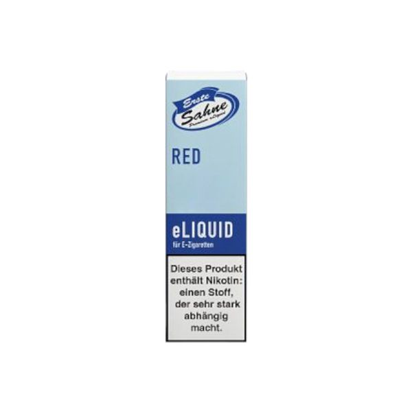 Erste Sahne Red eLiquid 0mg Nikotin/ml (10 ml)