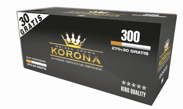 Korona Golden Crown Zigarettenhülsen (Schachtel á 300 Stück)