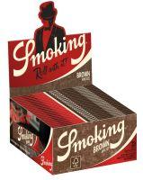 Smoking King Size Zigarettenpapier Brown (50 x 33 Stück)