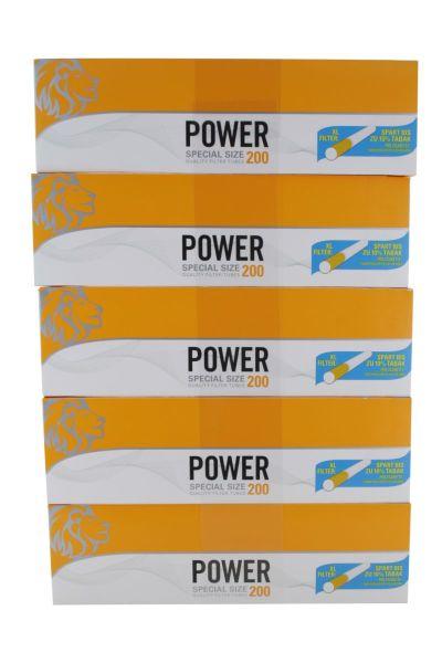 Power Zigarettenhülsen Special Size 200er (5 x 200 Stück)