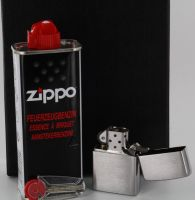 "Zippo Original Zippo ""Geschenk-Set"" chrom gebürstet"