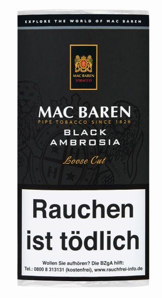 Mac Baren Pfeifentabak Black Ambrosia (Pouch á 50 gr.)