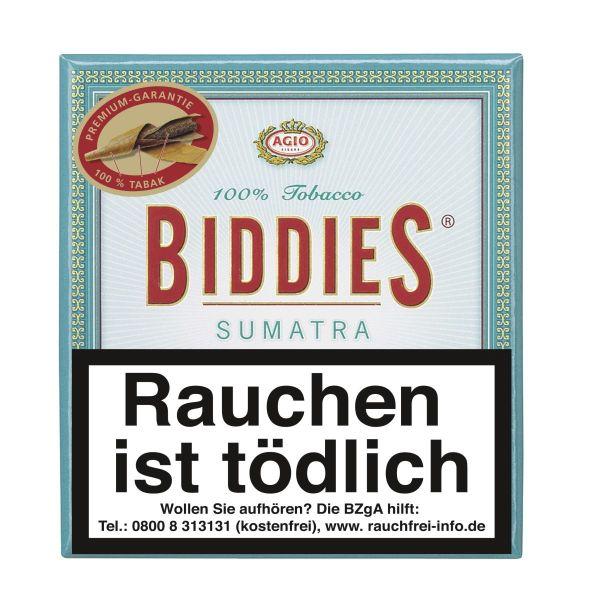 Biddies Zigarillos Sumatra 100% (Schachtel á 20 Stück)