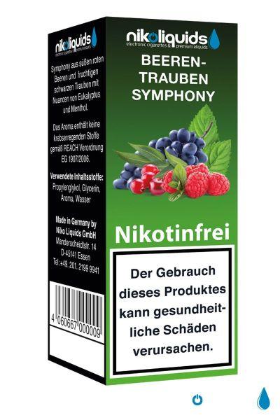 NikoLiquids Beeren Trauben Symphony eLiquid 0mg Nikotin/ml (10 ml)
